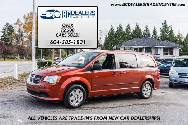 2012 Dodge Grand Caravan SE STOW-N-GO, Local, No Accidents, 164k, Clean!