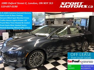 Used 2014 Lincoln MKZ 3.7 AWD+Blind Spot & Cross Traffic+GPS+Remote Star for sale in London, ON