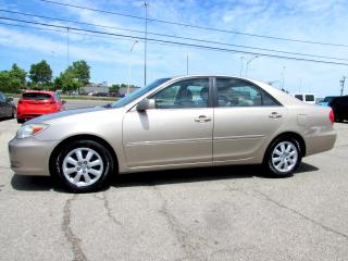Used 2002 Toyota Camry 4CYL LE SEDAN LEATHER SUNROOF CERTIFIED 2YR WARRANTY for sale in Milton, ON