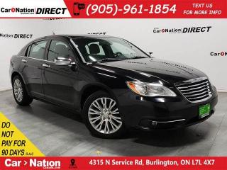 Used 2012 Chrysler 200 Limited| LOW KM'S| SUNROOF| LEATHER| for sale in Burlington, ON