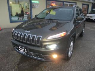 Used 2014 Jeep Cherokee LOADED LIMITED EDITION 5 PASSENGER 2.4L - DOHC.. 4X4.. SELEC-TERRAIN.. LEATHER.. HEATED/AC SEATS.. NAVIGATION.. BACK-UP CAMERA.. for sale in Bradford, ON