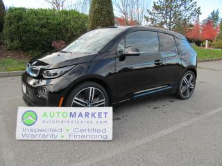 Used 2016 BMW i3 RANGE EXT, NAVI, DUAL CHARGE, CAMERA, WARR, FINANCE! for sale in Surrey, BC