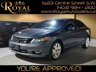 Used 2012 Honda Civic Si  w/ NAVIGATION, SUNROOF, BLUETOOTH for sale in Calgary, AB
