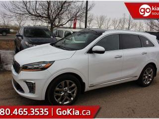New 2019 Kia Sorento SXL LIMITED; AWD, LEATHER, PANO ROOF, NAV, PUSH START, 7 PASS, ADAPTIVE CRUISE, HEATED SEATS/WHEEL, HARMON/KARDON, VENTILATED SEATS, 360 BACKUP CAMERA, BLIND-SPOT/CROSS TRAFFIC ALERT, ANDROID AUTO/APPLE CAR PLAY for sale in Edmonton, AB