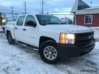 Used 2013 Chevrolet Silverado 1500 4x4,WT,crewcab for sale in Drummondville, QC