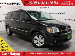 Used 2017 Dodge Grand Caravan Crew| POWER DRIVERS SEAT| 3-ZONE CLIMATE CONTROL| for sale in Burlington, ON