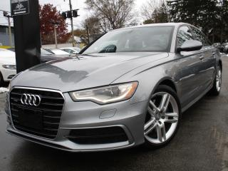 Used 2014 Audi A6 2.0T S-LINE PROGRESSIV ~ NAVIGATION ~ SUNROOF !! for sale in Burlington, ON
