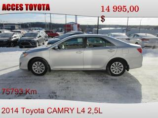 Used 2014 Toyota Camry for sale in Rouyn-Noranda, QC