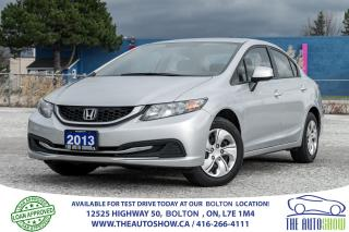 Used 2013 Honda Civic LX 5SPD 1 OWNER NO ACCIDENTS CERTIFIED CLEAN for sale in Bolton, ON