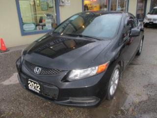 Used 2012 Honda Civic 5-SPEED LX - COUPE MODEL 5 PASSENGER 2.3L - SOHC.. ECON-BOOST.. POWER SUNROOF.. CD/AUX INPUT.. KEYLESS ENTRY.. for sale in Bradford, ON