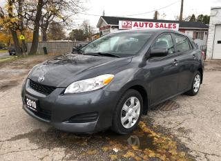 Used 2010 Toyota Matrix Certified/Automatic/Accident Free/Gas Saver for sale in Scarborough, ON