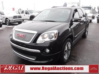 Used 2012 GMC Acadia Denali 4D Utility AWD 3.6L for sale in Calgary, AB