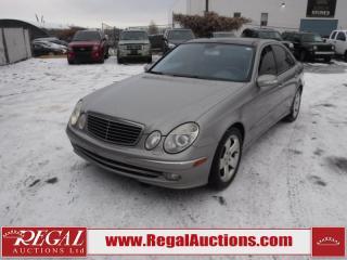 Used 2003 Mercedes-Benz E500 E-CLASS W 4D Sedan RWD 5.0L for sale in Calgary, AB