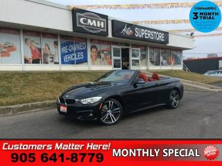 Used 2015 BMW 4 Series 435i xDrive  AWD M-PKG EXEC/PREM-PKG NAV 360-CAM RED-LEATHER for sale in St. Catharines, ON