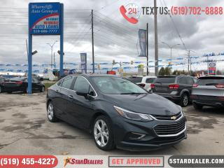 Used 2017 Chevrolet Cruze Premier  LEATHER   CAM for sale in London, ON