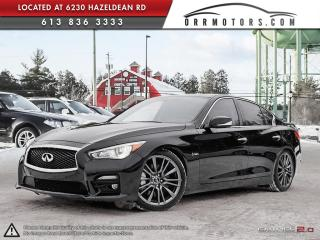 Used 2016 Infiniti Q50 Red Sport 400 for sale in Ottawa, ON
