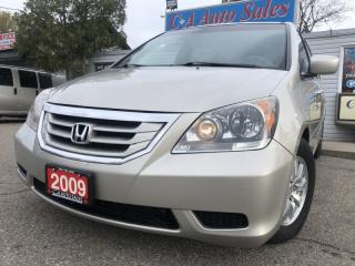 Used 2009 Honda Odyssey 5dr Wgn EX-L w/RES back up camera DVD TV POWER DOORS for sale in Brampton, ON