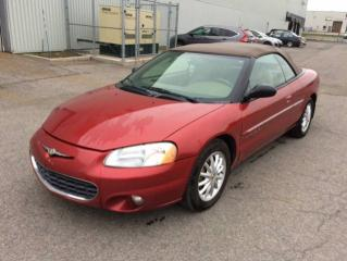 Used 2001 Chrysler Sebring 2 portes - LXi CONVERTIBLE for sale in Quebec, QC