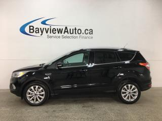 Used 2017 Ford Escape Titanium - KEYPAD! REMOTE START! PANOROOF! HTD LTHR! SYNC! PWR LIFTGATE! WIFI! for sale in Belleville, ON