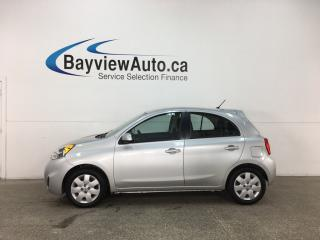 Used 2015 Nissan Micra SV - KEYLESS ENTRY! A/C! BLUETOOTH! PWR GROUP! CRUISE! for sale in Belleville, ON