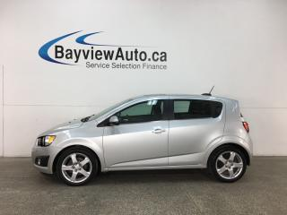 Used 2015 Chevrolet Sonic LT Auto - ONSTAR! REVERSE CAM! BLUETOOTH! SUNROOF! ALLOYS! for sale in Belleville, ON