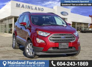 New 2018 Ford EcoSport SE FWD 200A for sale in Surrey, BC