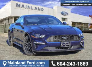 New 2019 Ford Mustang EcoBoost Coupe 101A for sale in Surrey, BC
