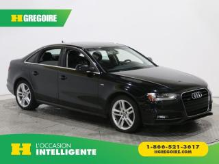 Used 2015 Audi A4 TECHNIK+ S LINE for sale in St-Léonard, QC