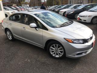 Used 2012 Honda Civic EX/ AUTO/ SUNROOF/ ALLOYS/ LITERALLY LIKE NEW! for sale in Scarborough, ON