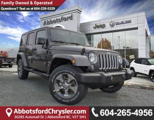 Used 2018 Jeep Wrangler JK Unlimited Sahara *ACCIDENT FREE* *LOCALLY DRIVEN* for sale in Abbotsford, BC