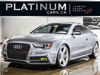 Used 2013 Audi S5 3.0T QUATTRO, 6 SPEED, PANO, Heated Leather for sale in Toronto, ON