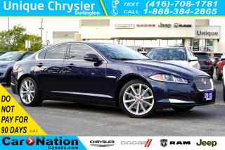 Used 2015 Jaguar XF 3.0L AWD| NAVI+VOICE PKG| COLD WEATHER PKG| for sale in Burlington, ON