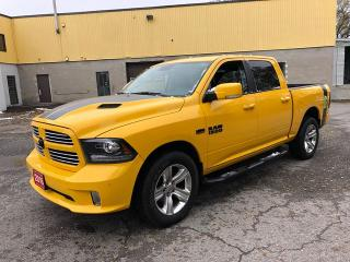 Used 2016 RAM 1500 Sport Crew Cab 4WD Sunroof BumbleBee! for sale in Ottawa, ON