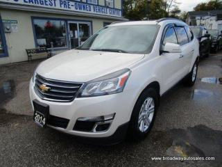 Used 2014 Chevrolet Traverse ALL-WHEEL DRIVE 2-LT EDITION 7 PASSENGER 3.6L - V6.. CAPTAINS.. 3RD ROW.. NAVIGATION.. LEATHER.. HEATED SEATS.. DVD PLAYER.. POWER DUAL SUNROOF.. for sale in Bradford, ON