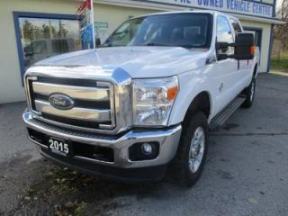 Used 2015 Ford F-250 3/4 TON DIESEL XLT EDITION 5 PASSENGER 6.7L - B-20.. 4X4.. CREW.. SHORTY.. TRAILER BRAKE.. BACK-UP CAMERA.. SYNC TECHNOLOGY.. for sale in Bradford, ON