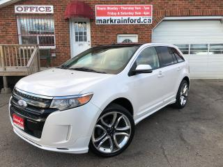 Used 2012 Ford Edge Sport AWD V6 Leather Pano Roof Touch Screen for sale in Bowmanville, ON
