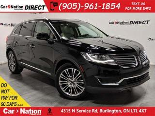 Used 2016 Lincoln MKX Reserve| AWD| NAVI| PANO ROOF| for sale in Burlington, ON