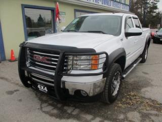 Used 2009 GMC Sierra 1500 LOADED SLT - ALL TERRAIN 5 PASSENGER 5.3L - V8.. 4X4.. CREW.. SHORTY.. LEATHER.. HEATED SEATS.. BOSE AUDIO.. TRAILER BRAKE.. SUNROOF.. for sale in Bradford, ON