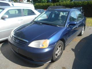 Used 2001 Honda Civic Berline 4 portes, boîte manuelle - LX-G for sale in Sorel-Tracy, QC