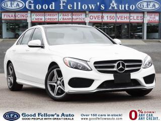 Used 2015 Mercedes-Benz C-Class 4MATIC, PANORAMIC ROOF, LEATHER SEATS, NAVIGATION for sale in Toronto, ON