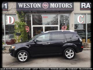 Used 2008 Mitsubishi Outlander AWD*LEATHER*PWR GRP*SUNROOF*BTOOTH!!* for sale in Toronto, ON