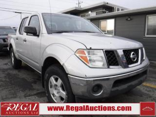 Used 2005 Nissan Frontier SE Crew CAB 4X4 V6 for sale in Calgary, AB