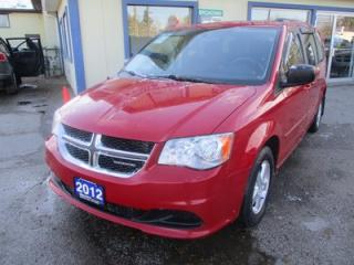Used 2012 Dodge Grand Caravan FAMILY MOVING SE MODEL 7 PASSENGER 3.6L - V6.. CAPTAINS.. STOW-N-GO.. CD/AUX INPUT.. POWER WINDOWS.. ECON-PACKAGE.. for sale in Bradford, ON