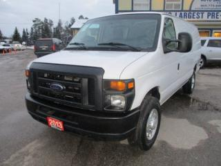 Used 2013 Ford E250 WORK READY SUPER DUTY MODEL 2 PASSENGER 4.6L - V8.. EXT-CARGO.. FLEX FUEL.. TOW SUPPORT.. AUX INPUT.. AIR CONDITIONING.. for sale in Bradford, ON