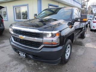 Used 2017 Chevrolet Silverado 1500 WORK READY LS MODEL 3 PASSENGER 5.3L - V8.. 4X4.. REGULAR CAB.. 8-FOOT LONG BOX.. TRAILER BRAKE.. AUX/USB INPUT.. KEYLESS ENTRY.. for sale in Bradford, ON