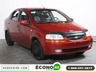 Used 2005 Chevrolet Aveo LS AM FM LECTEUR for sale in St-Léonard, QC