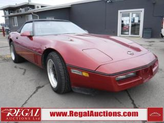 Used 1986 Chevrolet Corvette 2D Convertible for sale in Calgary, AB