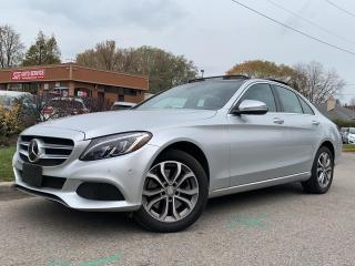 Used 2016 Mercedes-Benz C-Class C 300-4MATIC-NAVI-PANO ROOF-BLINDSPOT-HEATED SEATS for sale in Mississauga, ON