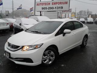 Used 2015 Honda Civic LX Sedan Prl White Camera/Htd Seats &GPS* for sale in Mississauga, ON
