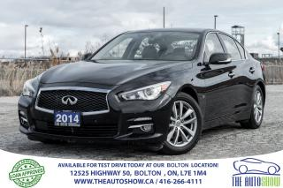 Used 2014 Infiniti Q50 NAVI GPS AWD NO ACCIDENTS CERTIFIED WARRANTY for sale in Bolton, ON